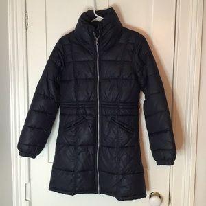 Long High Neck Black Puffer Jacket 13-14Y - H&M